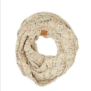Confetti knit cable C.C infinity scarf Oatmeal
